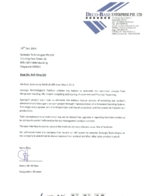ERP System Client testimonial