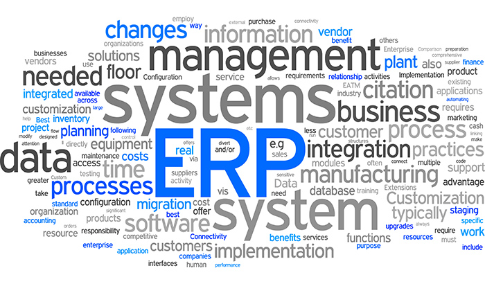 ERP tag cloud Infograph - 5 Signs Your Business Needs an ERP System