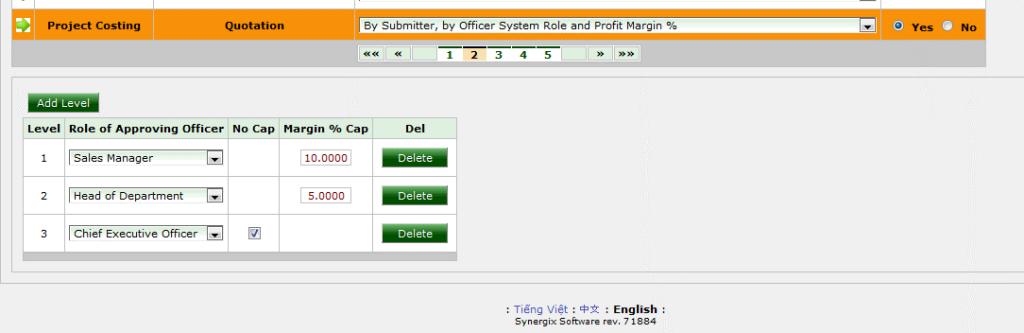 Synergix ERP System approval at profit margin