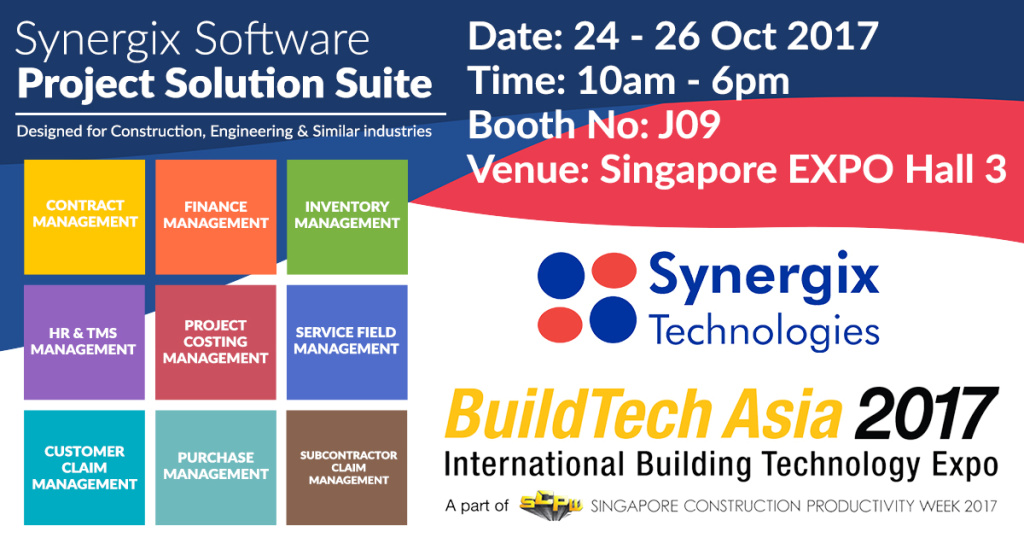 Buildtech 2017 poster 1024x538 - BuildTech Asia 2017 at Singapore Expo Hall 3