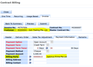 synergix erp system contract billing 2