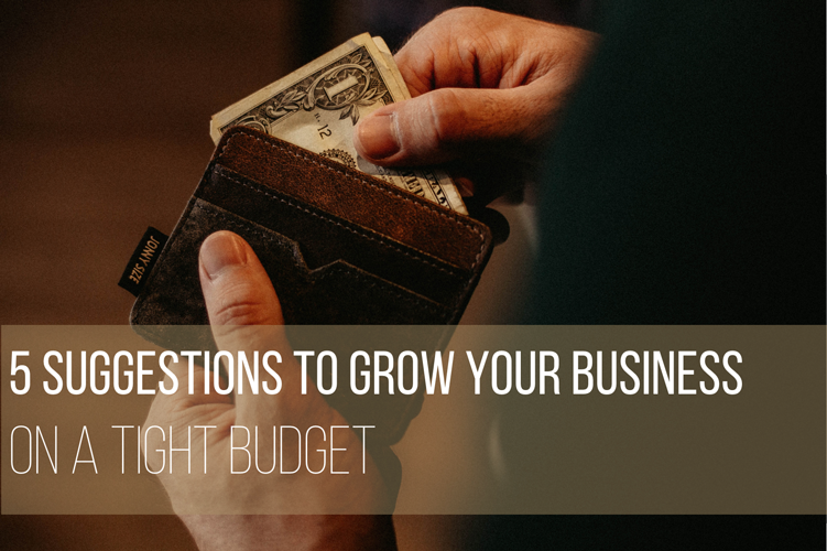 5 suggestions to Grow your business on a tight budget - 5 Suggestions to Grow Your Business on a Tight Budget