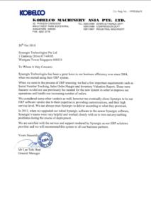 erp system testimonials - Kobelco