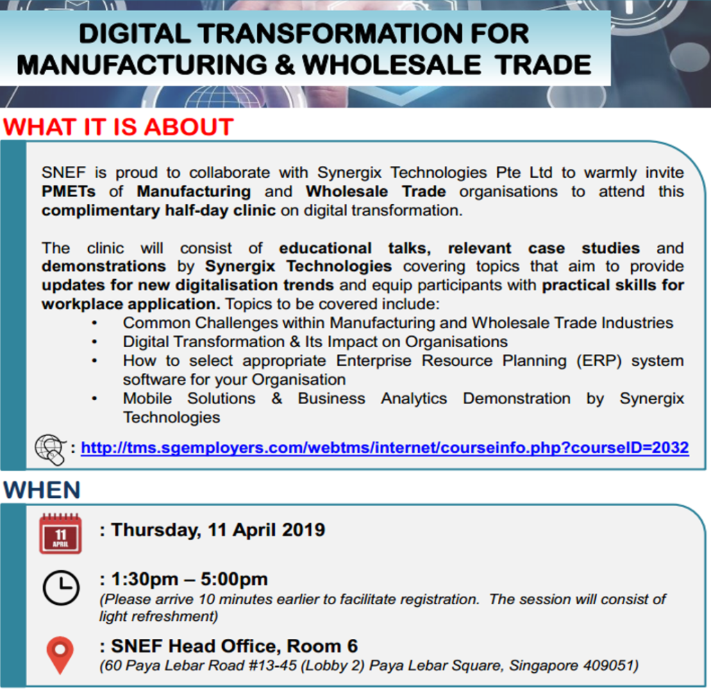 ERP System - exclusive event on digital transformation on manufacturing and wholesale trade
