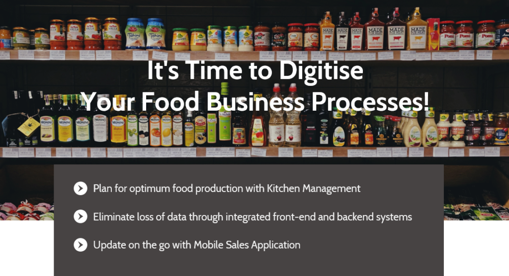 ERP System helps to digitise your food business