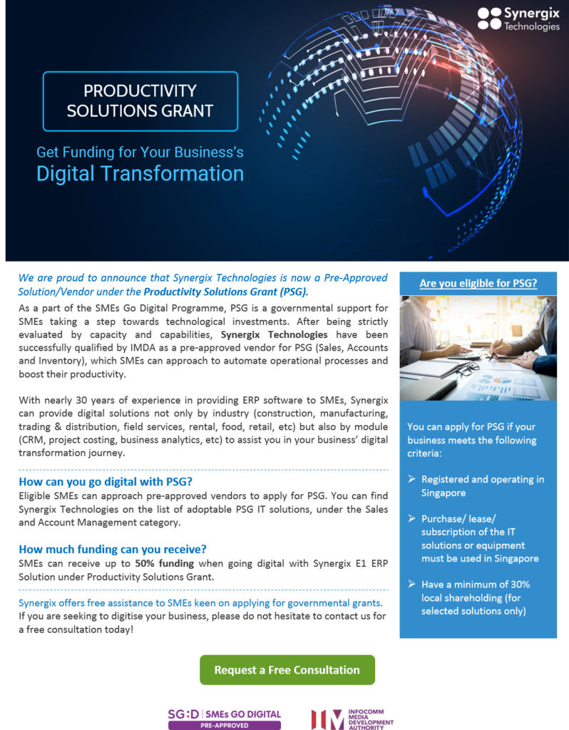 psg 798x1024 - Productivity Solutions Grant - Get Funding for Your Digitisation