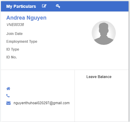 My Particulars_ERP System