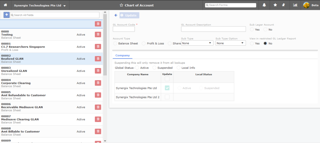 Chart of Account 1024x458 - Synergix ERP Software Updates | April 2020