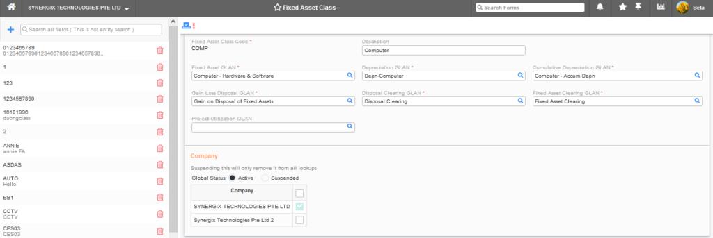 Fixed Asset Class 1024x343 - Synergix ERP Software Updates - August 2021