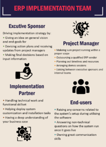 ERP Implementation Team 218x300 - Critical Steps For A Successful ERP Implementation