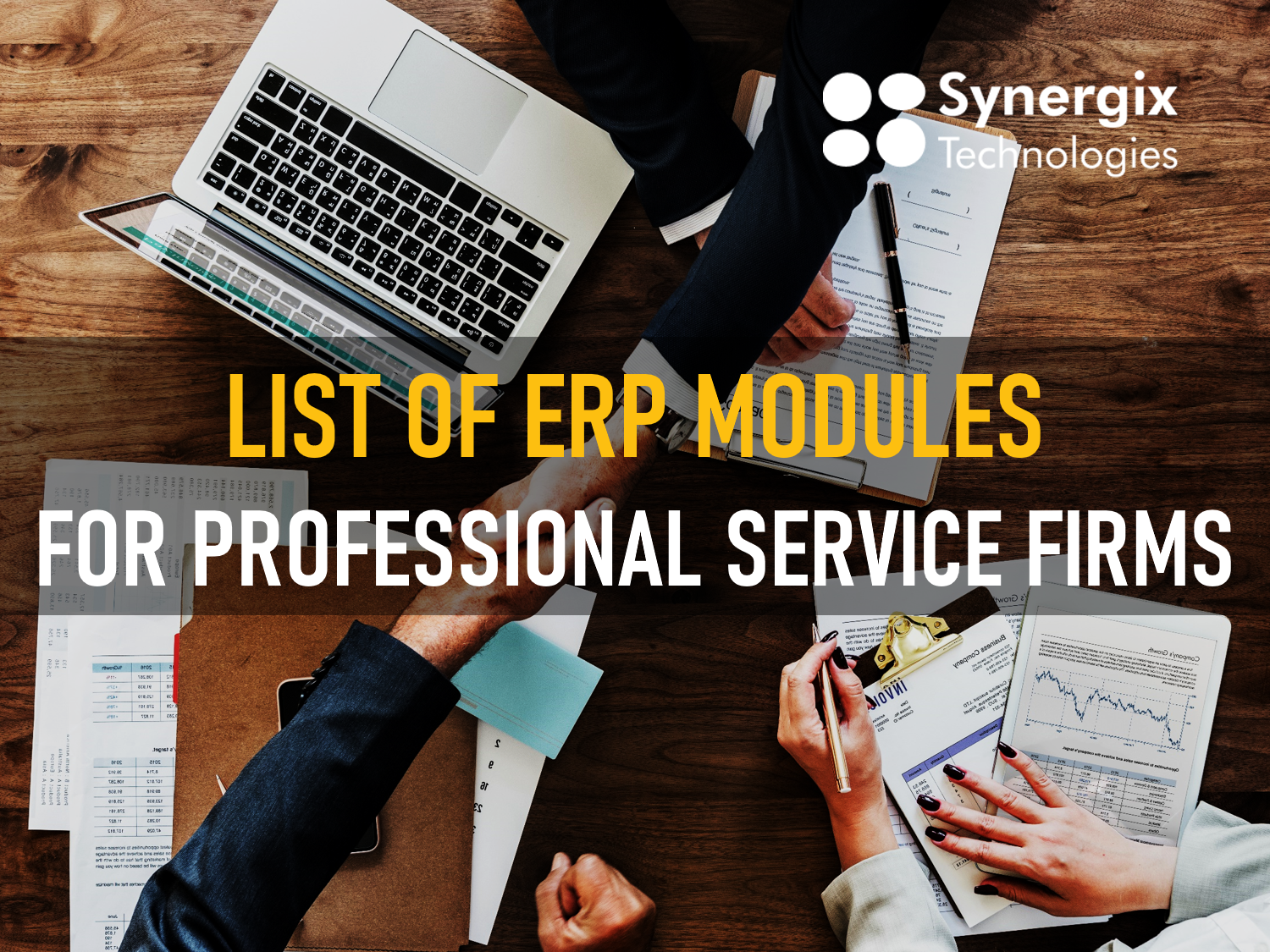 List Of ERP Modules For Professional Service Firms